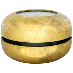 "Luciano Frigerio Italian Table Lamp Vibrated Brass ""Ballata Bassa"", 1974"