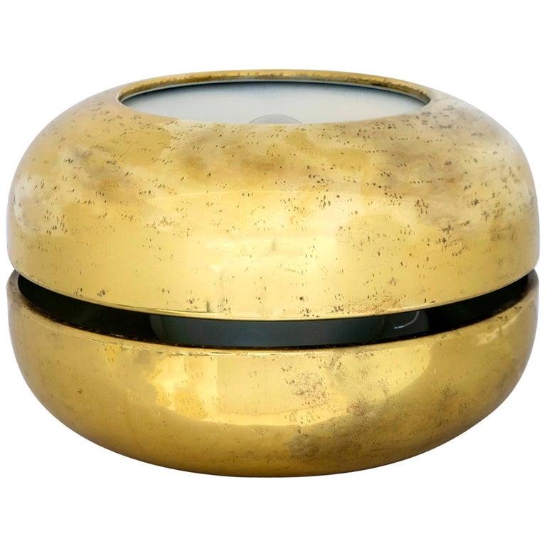 """Luciano Frigerio Italian Table Lamp Vibrated Brass """"Ballata Bassa"""", 1974 For Sale"""
