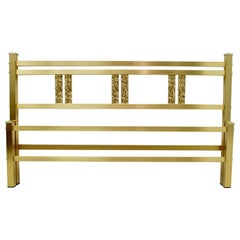 Luciano Frigerio Mid-Century Modern Italian Gold Brass and Bronze Double Bed
