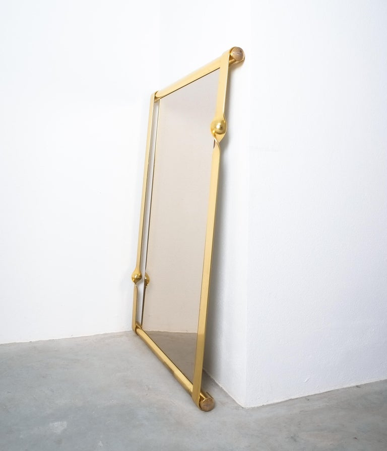 Luciano Frigerio Midcentury Mirror with Golden Twisted Frame, Italy, circa 1965 For Sale 2