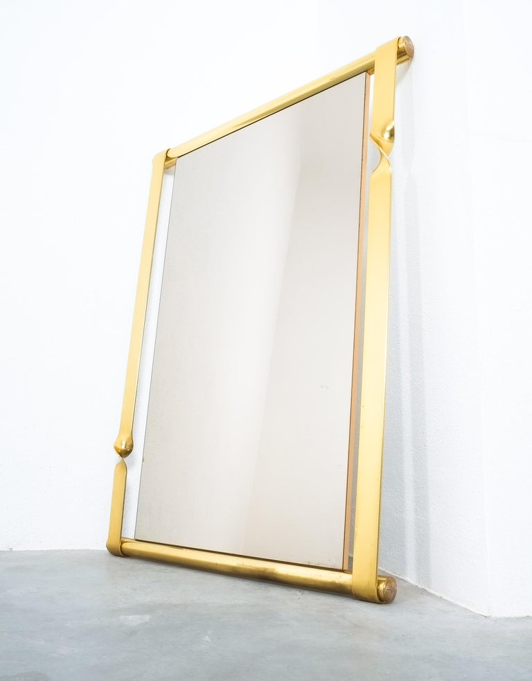 Mid-Century Modern Luciano Frigerio Midcentury Mirror with Golden Twisted Frame, Italy, circa 1965 For Sale