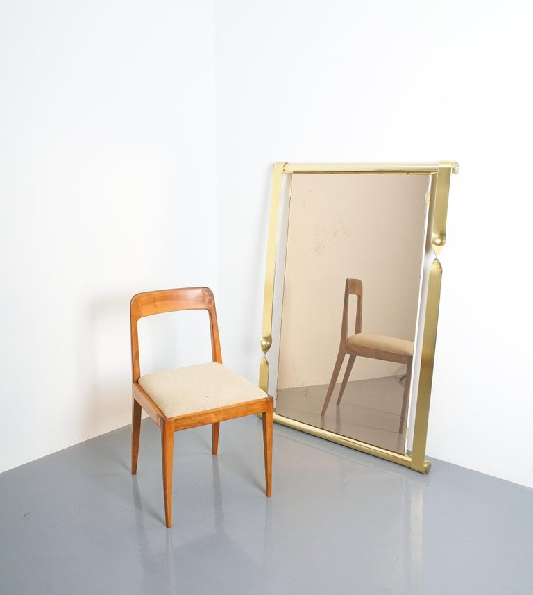 Italian Luciano Frigerio Midcentury Mirror with Golden Twisted Frame, Italy, circa 1965 For Sale