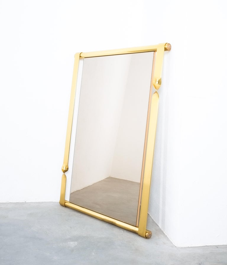 Mid-20th Century Luciano Frigerio Midcentury Mirror with Golden Twisted Frame, Italy, circa 1965 For Sale