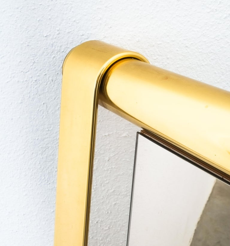 Brass Luciano Frigerio Midcentury Mirror with Golden Twisted Frame, Italy, circa 1965 For Sale
