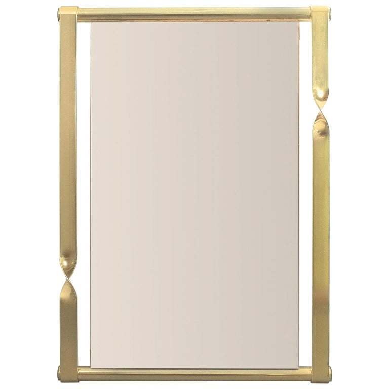 Luciano Frigerio Midcentury Mirror with Golden Twisted Frame, Italy, circa 1965 For Sale