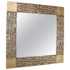 Luciano Frigerio Vintage Brutalist Mirror