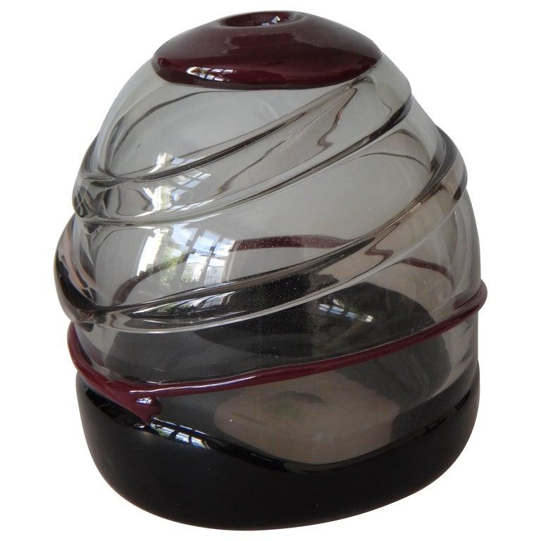 Luciano Gaspari Sasso Murano Glass Vase For Sale