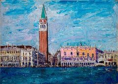 Venice - Original Oil Painting by Luciano Sacco - 1980s