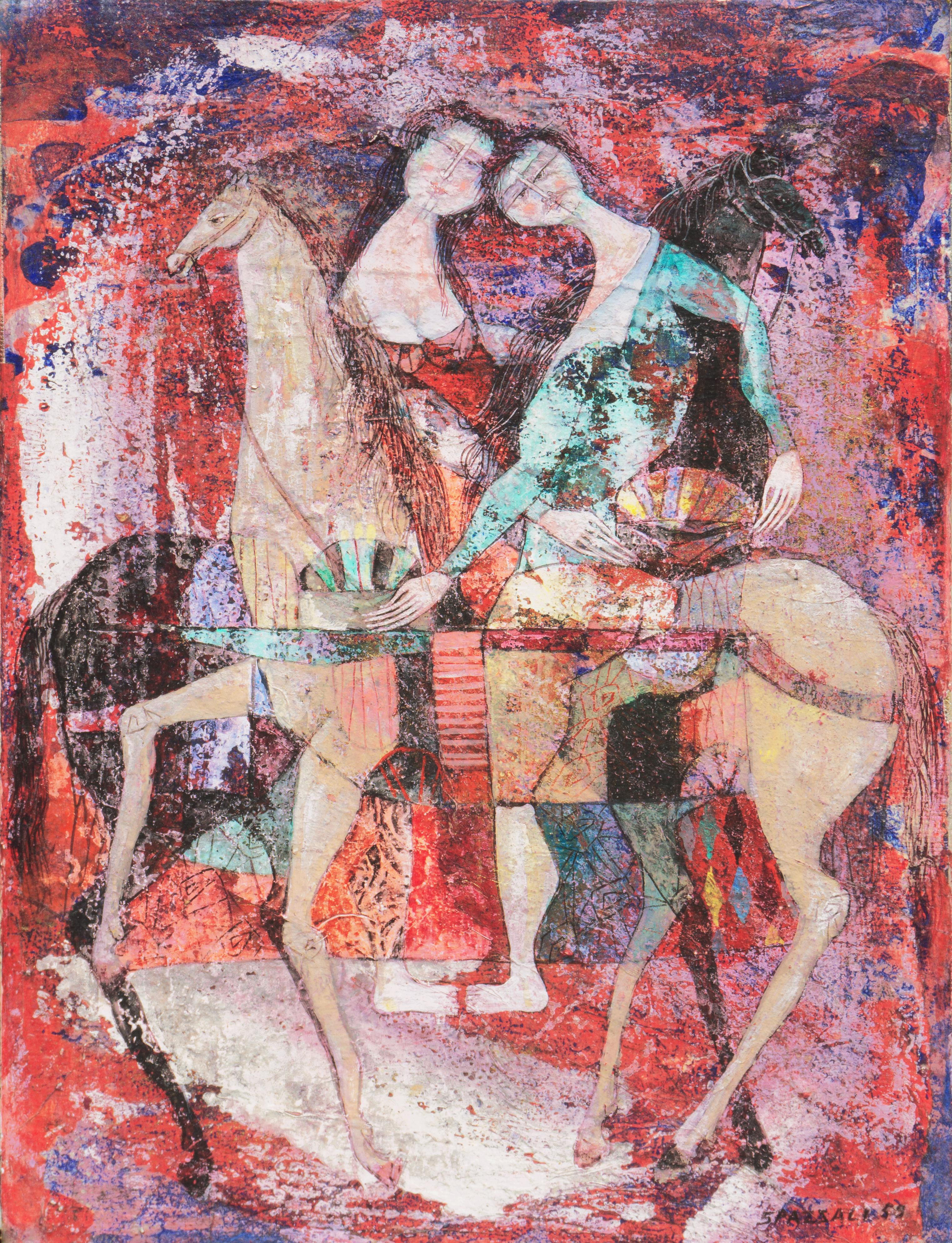 'Riders Against a Red Background', Italian Modernism, Horses, Avant-garde