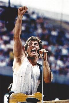 Bruce Springsteen Performing in Color Vintage Original Photograph