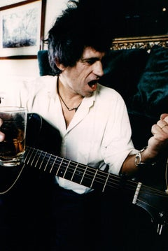 Keith Richards of The Rolling Stones on Couch Vintage Original Photograph