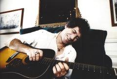 Keith Richards Smiling with Guitar Vintage Original Photograph