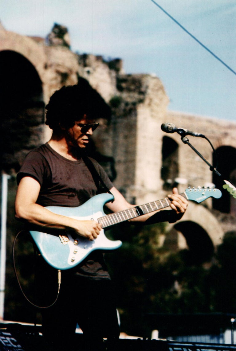 Luciano Viti Color Photograph - Lou Reed with Blue Guitar Vintage Original Photograph