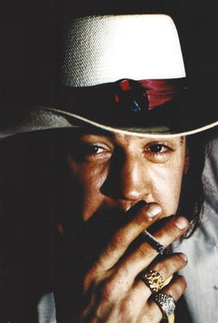 Stevie Ray Vaughan Smoking Closeup Vintage Original Photograph