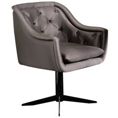 Lucie Grey Small Armchair by DOM Edizioni