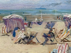 A French Impressionist beach scene possibly Cannes