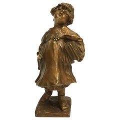 Lucien Alliot French Small Bronze Figurine