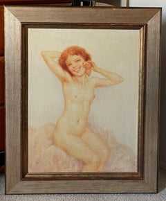 NUDE WITH RED HAIR