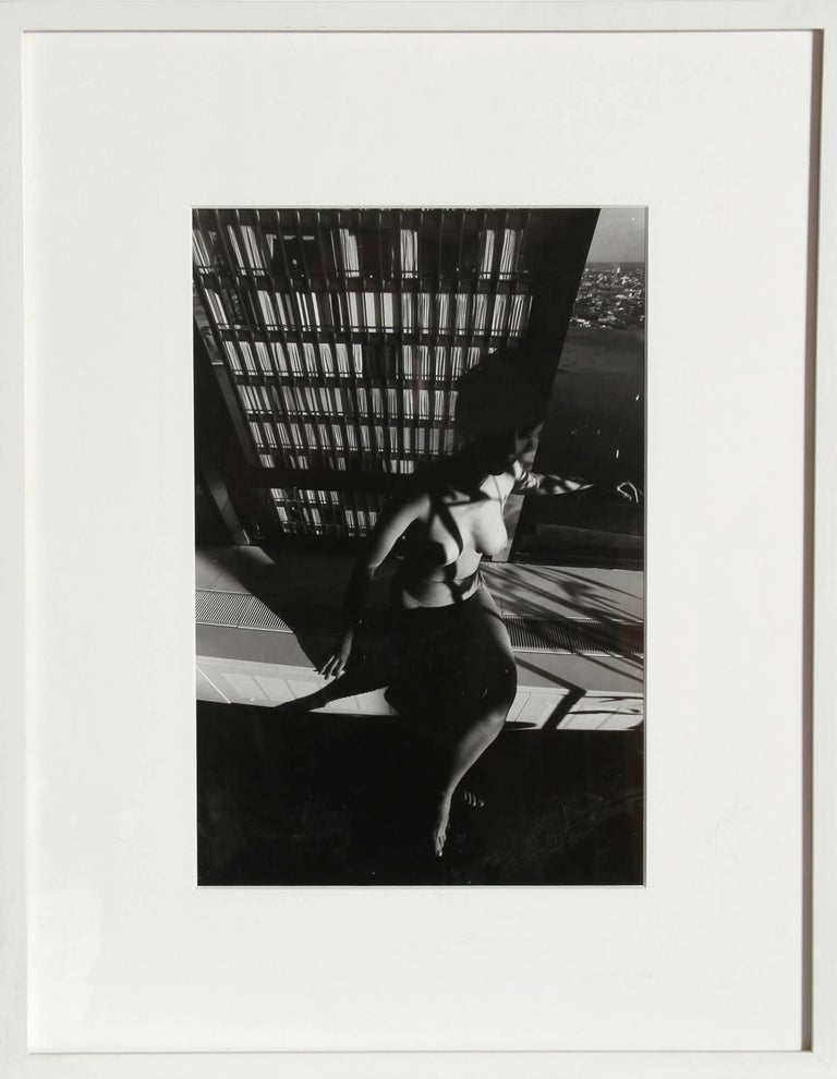 Nude on a Ledge, Photograph by Lucien Clergue For Sale 1