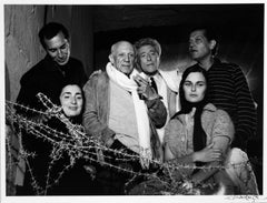 Picasso with Friends and Family 1955