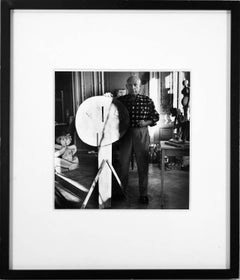 Picasso with Sculpture by Lucien Clergue