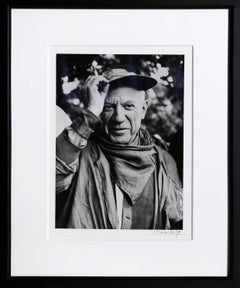 Portrait of Picasso, Nimes, 1959 by Lucien Clergue