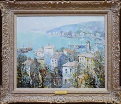 Beaulieu, Cote D'Azur - French Post Impressionist Oil Painting Mediterranean