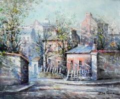 """""""Le Lapin Agile Montmartre"""", Lucien Delarue, Impressionist, Paris, 18x22, Oil"""