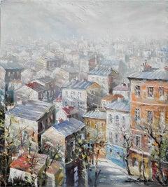 """""""Les Troits de Montmartre"""", Lucien Delarue, Impressionist, Paris, 22x18, Oil"""