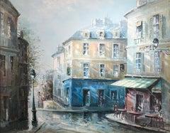 """Rue de Saules, Monmartre"", Lucien Delarue, Impressionist, Paris, 24x29 in., Oil"