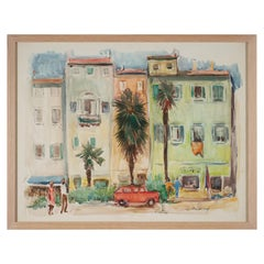 Lucien Desmaré, Southern Streetview, Framed and Signed