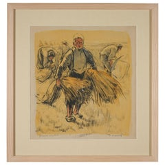 Lucien Desmaré '1905-1961', Young Boy on the Field, Signed and Framed