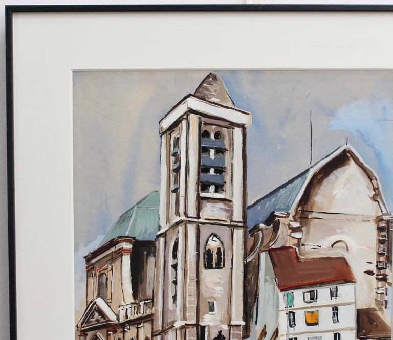 Church of Saint-Nicolas du Chardonnet in Paris - Expressionist Painting by Lucien Génin