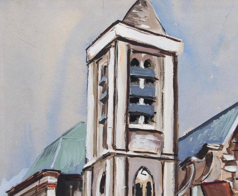 Church of Saint-Nicolas du Chardonnet in Paris - Gray Figurative Painting by Lucien Génin