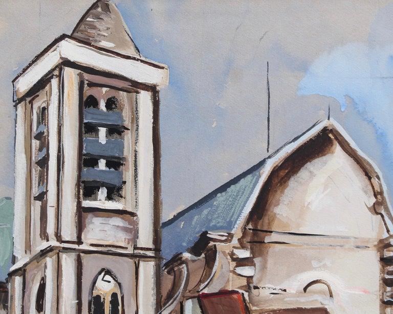 'The Church of Saint-Nicolas du Chardonnet, Paris', gouache on art paper by Lucien Génin (circa 1930s). In Paris' 5th Arrondissement the site in which Saint-Nicolas du Chardonnet is situated was a once a chapel first built in the 13th century in a