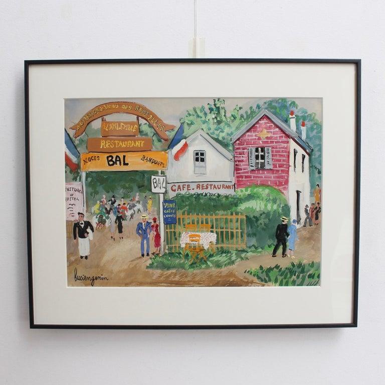 Emile's Tavern - Painting by Lucien Génin