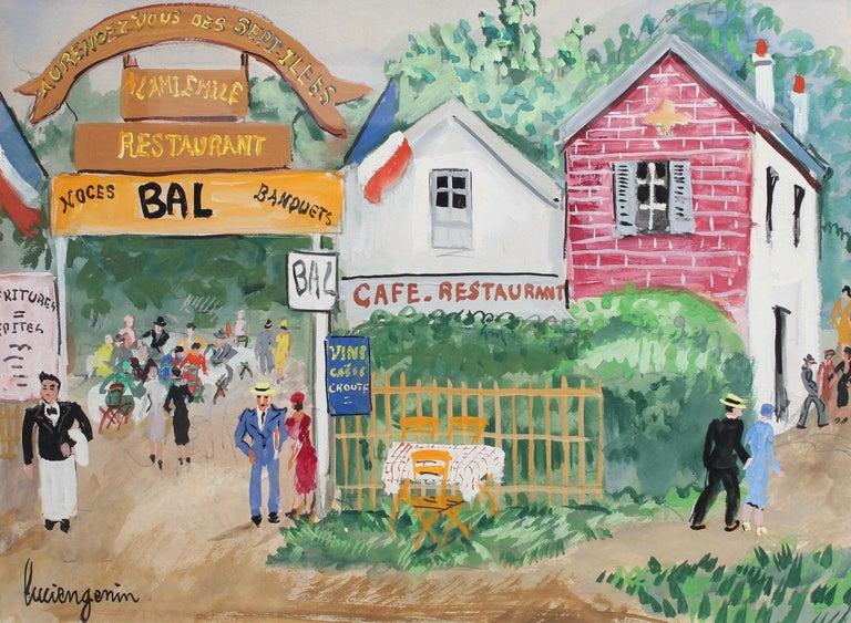 Lucien Génin Figurative Painting - Emile's Tavern