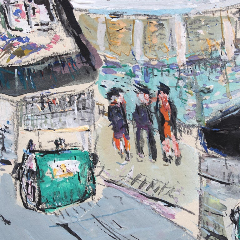 Paris Booksellers (Bouquinistes) Along the River Seine For Sale 2