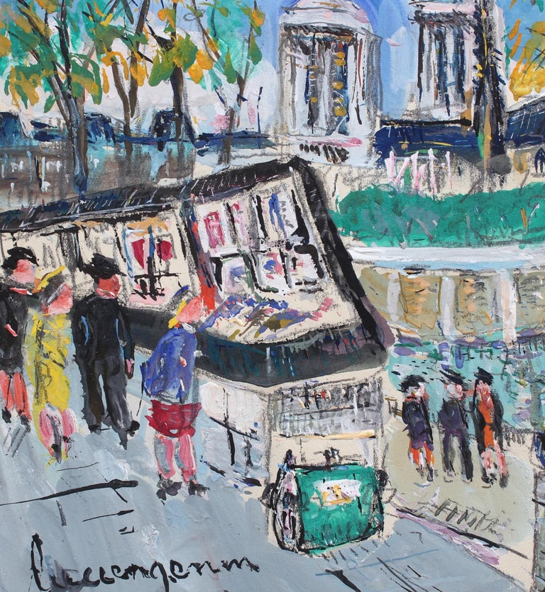 Paris Booksellers (Bouquinistes) Along the River Seine For Sale 4