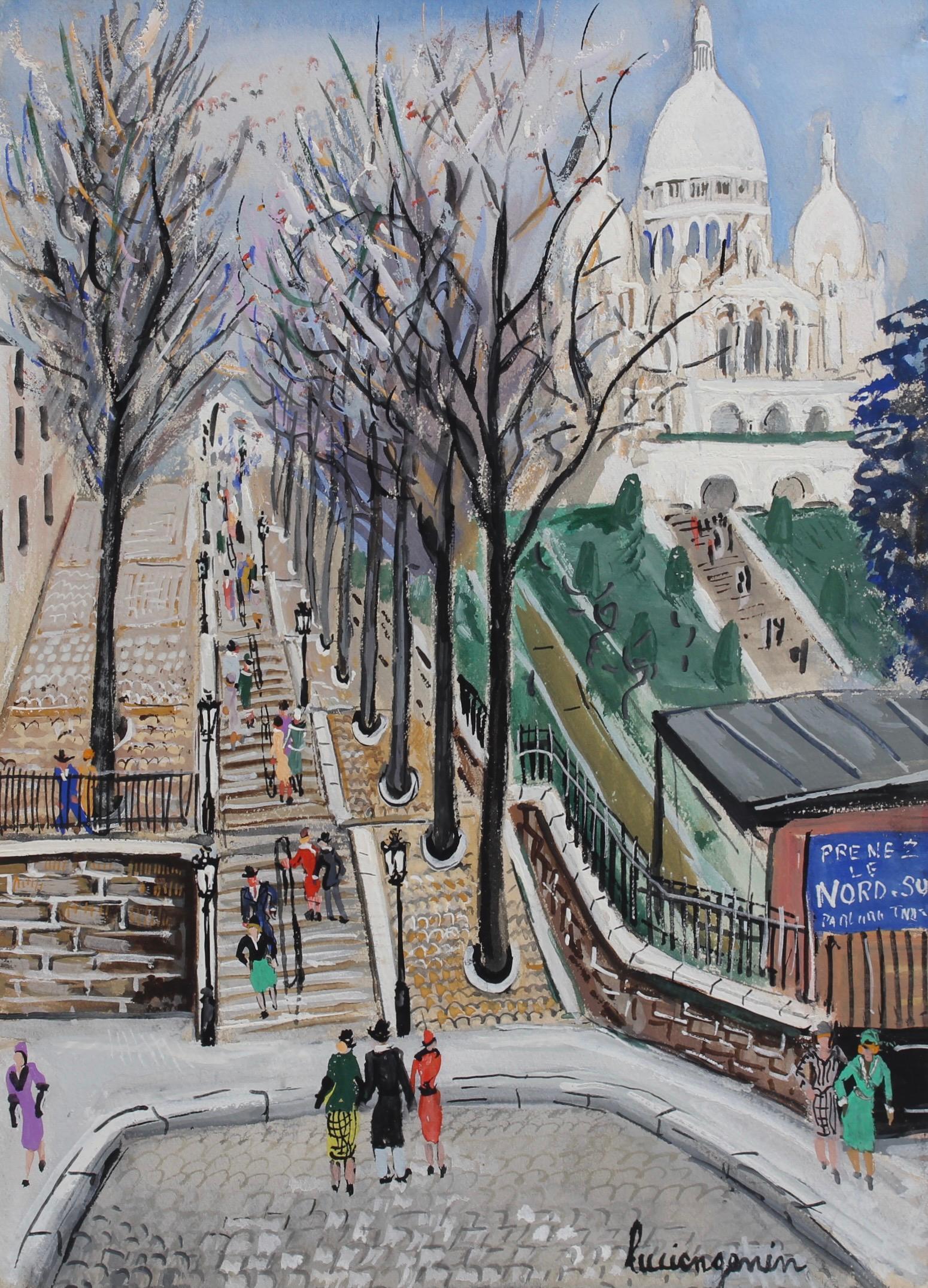 Sacré-Coeur Montmartre at Willette Square Paris