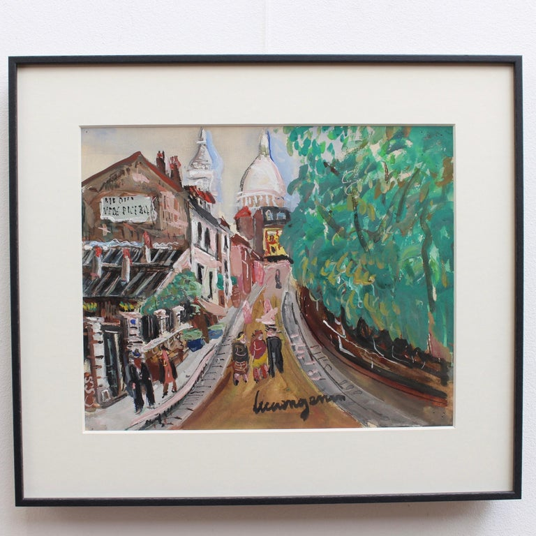 View of Montmartre from Rue Lepic - Art by Lucien Génin