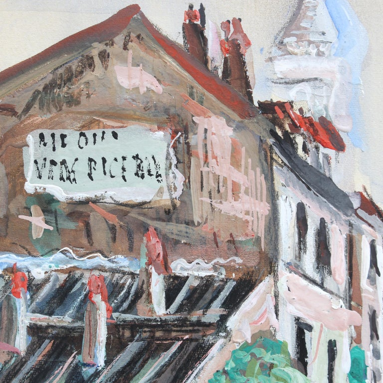 View of Montmartre from Rue Lepic For Sale 1