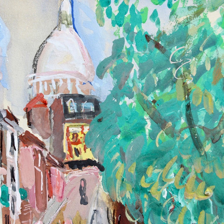 View of Montmartre from Rue Lepic For Sale 2