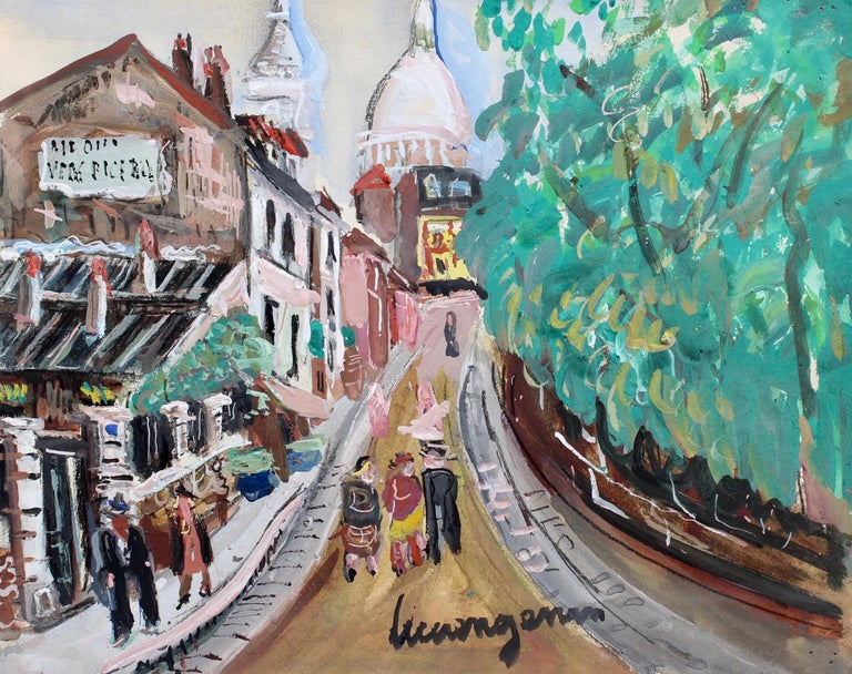 Lucien Génin Landscape Art - View of Montmartre from Rue Lepic