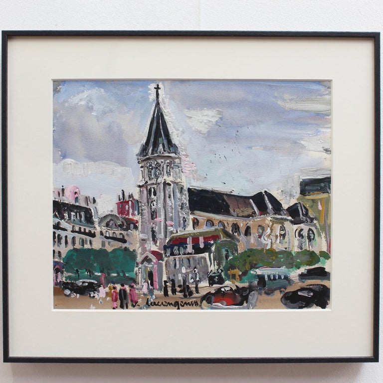 View of Saint Germain des Pres Church For Sale 1