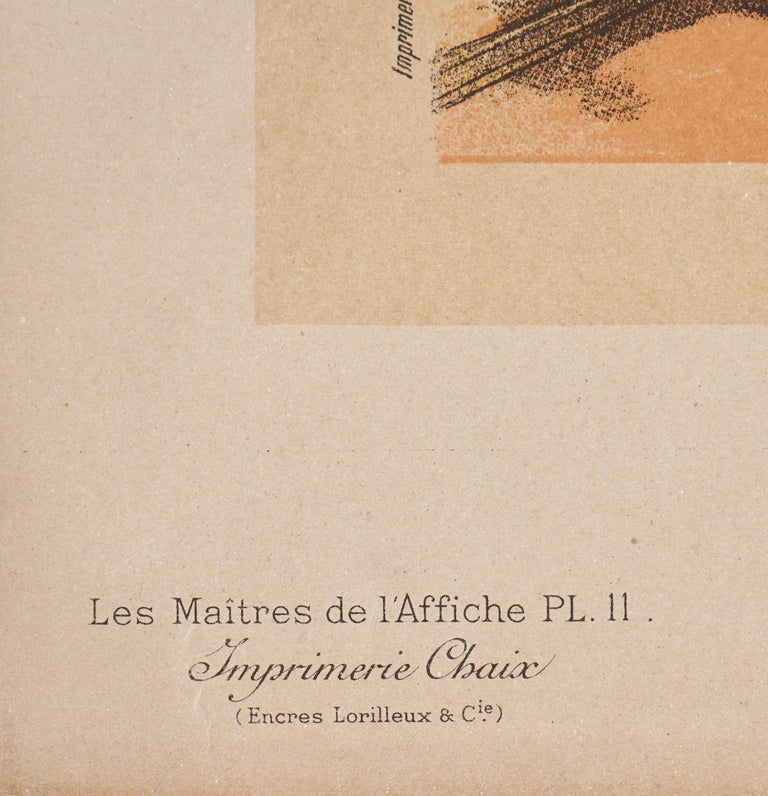 """Hand-Crafted Lucien Lefevre Original Poster """"Cacao Lacte"""" 1896 Chaix"""