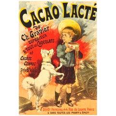 """Lucien Lefevre Original Poster """"Cacao Lacte"""" 1896 Chaix"""