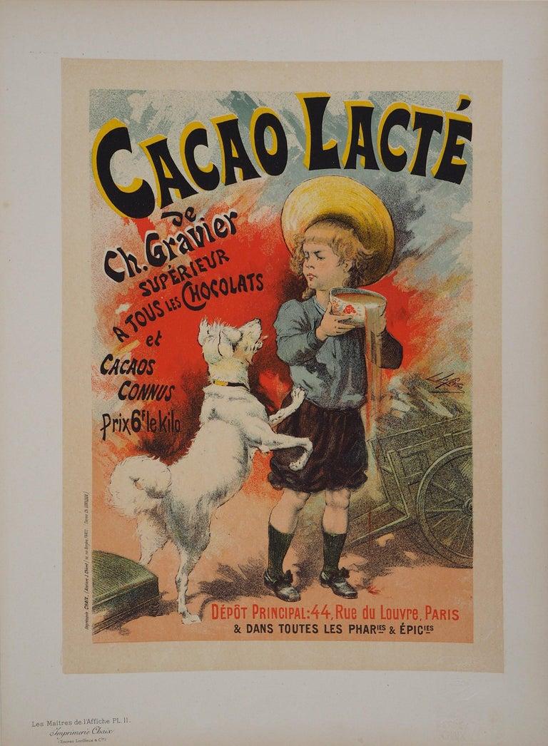 Cacao lacté (Milky cocoa) - Lithograph (Les Maîtres de l'Affiche), 1895 - Print by Lucien Lefevre