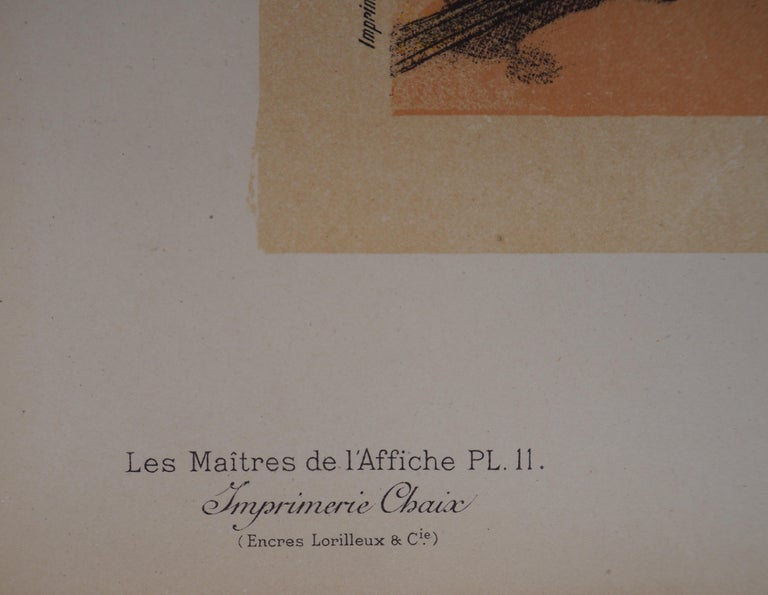 Cacao lacté (Milky cocoa) - Lithograph (Les Maîtres de l'Affiche), 1895 For Sale 2