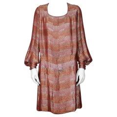 Lucien LeLong  Art Deco Lame Broche Cocktail Dress